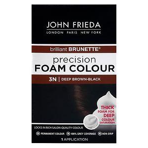 John Frieda Permanent Precision Foam Colour, 3N Brilliant Brunette Deep Brown-Black