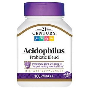 21st Century Acidophilus, High-Potency, Capsules