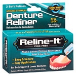Dentist On Call Reline-It, Advanced Formular Denture Reliner, Zinc Free- 2 repairs