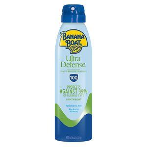 Banana Boat Ultra Defense Max Skin Protect Continuous Spray Sunscreen, SPF 100- 6 fl oz