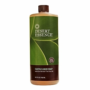Desert Essence Castile Liquid Soap with Eco-Harvest Tea Tree Oil, 32 fl oz