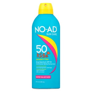 NO-AD Kids Continuous Spray Sunscreen, SPF 50