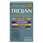 Trojan Lubricated Latex Condoms, Sensitivity Pack