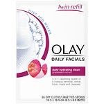 Olay Daily Clean 4-in-1 Water Activated Cleansing Face Cloths, 2pk- 33 ea