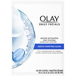 Olay Daily Deeply Clean 4-in-1 Water Activated Cleansing Face Cloths, 2 pk- 33 ea