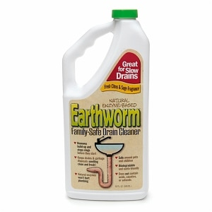 Earthworm Natural Enzyme-Based Family-Safe Drain Cleaner- 32 fl oz