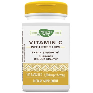 Nature's Way Vitamin C with Rose Hips, 1000mg, Capsules- 100 ea