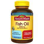 Nature Made Fish Oil, 1000mg, Liquid Softgels