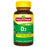 Nature Made Vitamin D3 400 IU, Tablets