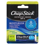 ChapStick Lip Moisturizer Skin Protectant Lip Balm, SPF 15, Green Apple