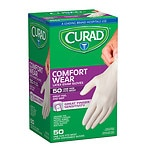 Curad Powder-Free Exam Gloves, Latex, Universal- 50 ea