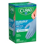 Curad Powder-Free Exam Gloves, Nitrile, Universal- 40 ea