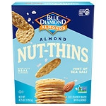 Blue Diamond Nut-Thins Almond Nut & Rice Cracker Snacks, Hint of Sea Salt- 4.25 oz