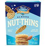 Blue Diamond Nut-Thins Almond Nut & Rice Cracker Snacks, Hint of Sea Salt- 4.25 oz