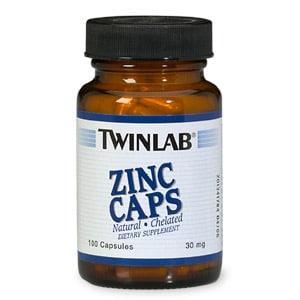 Twinlab Zinc Caps, 30mg, 100 capsules