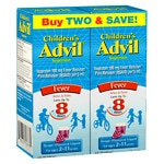 Children's Advil Ibuprofen Fever Reducer/Pain Reliever Oral Suspension, Twin Pack, Grape