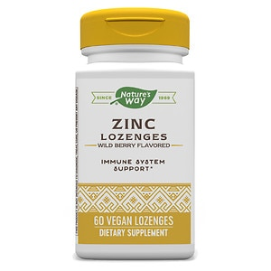 Nature's Way Zinc Lozenges with Echinacea and Vitamin C, Capsules, Berry- 60 ea