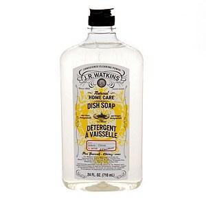 J.R. Watkins Natural Home Care Dish Soap, Lemon