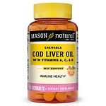 Mason Natural Cod Liver Oil, Chewable Tablets, Orange- 100 ea