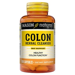 Mason Natural Colon Herbal Cleanser, Capsules- 100 ea