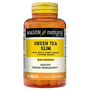 Mason Natural Green Tea Slim, Tablets- 60 ea