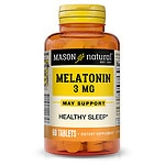 Mason Natural Melatonin, 3mg with Vitamin B-6, Tablets