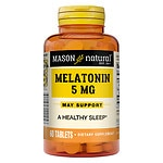 Mason Natural Melatonin, 5mg with Vitamin B-6, Tablets