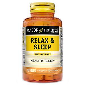 Mason Natural Relax & Sleep, Tablets- 90 ea