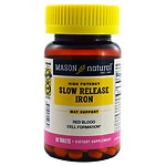 Mason Natural Slow Release Iron, Tablets- 60 ea