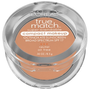 L'Oreal Paris True Match Super-Blendable Compact Makeup, SPF 17, Buff Beige N4