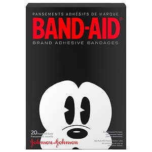 Band-Aid - Children's Adhesive Bandages, Disney Mickey Mouse, Assorted Sizes- 20 ea