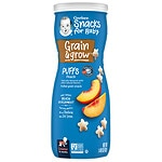 Gerber Graduates Puffs Cereal Snack, Peach