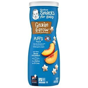 Gerber Graduates Puffs Cereal Snack, Peach
