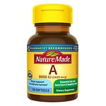 Nature Made Vitamin A, 8000 IU, Liquid Softgels