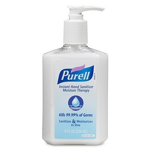 Purell Instant Hand Sanitizer Pump Bottle, Moisture Therapy, 8 fl oz