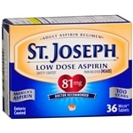 St. Joseph Safety Coated Aspirin Pain Reliever, 81mg, Tablets