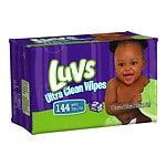 Luvs Ultra Clean Wipes, 2x Refill- 144 ea