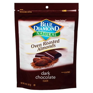 Blue Diamond Natural Oven Roasted Almonds, Bag, Dark Chocolate