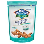 Blue Diamond Natural Oven Roasted Almonds, Bag, Sea Salt