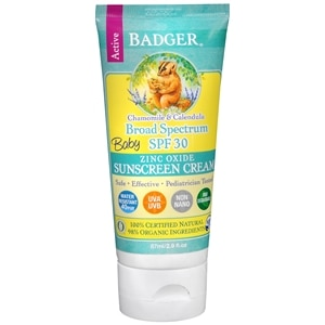 Badger SPF 30 Baby Sunscreen Cream - 2.9oz- 2.9 fl oz