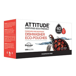 Attitude Automatic Dishwasher Detergent, EcoPouches, 40 Loads&nbsp;