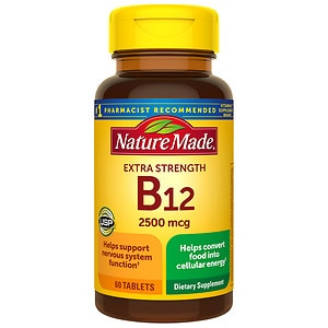 Nature Made Vitamin B-12, 2500mcg, Tablets- 60 ea