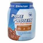Pure Protein 100% Whey Protein Shake Powder, Frosty Chocolate
