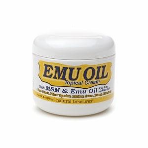 Natural Treasures Emu Oil Topical Cream, 4 oz