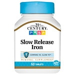21st Century Slow Release Iron, Tablets- 60 ea