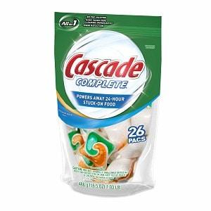 Cascade Complete 2-in-1 ActionPacs Dishwasher Detergent, Citrus Breeze