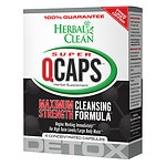 Herbal Clean Super QCaps, Extra Strength Cleansing Capsules- 4 ea