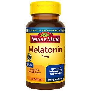 Nature Made Melatonin, 3mg, Tablets- 120 ea