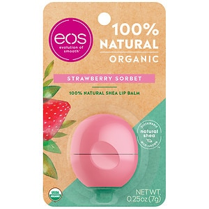 eos Smooth Lip Balm Sphere, Strawberry Sorbet, 1 ea