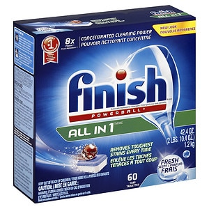 Finish Powerball Tabs Dishwasher Detergent, Fresh